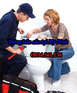 Thợ sửa chữa bồn cầu tại Mỹ Đình.